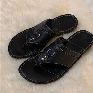 Born Leather Shoes size 9 Sandals Black